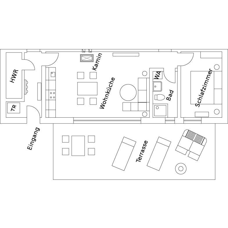 Haus Anna Wohnung 1 Grundriss